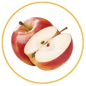 Fruta de hueso, manzana